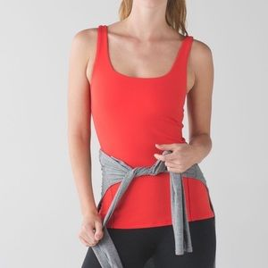 Lululemon tank top, coral red color. Size 10